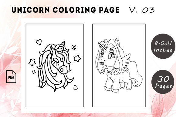Unicorn Coloring Pages #3 Graphic KDP Interiors By KDP Successor