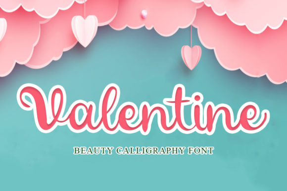 Print on Demand: Valentine Script & Handwritten Font By mizanstudio