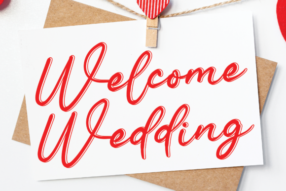 Print on Demand: Welcome Wedding Manuscrita Fuente Por StudioA26