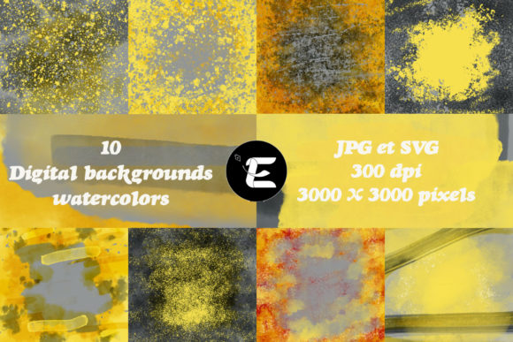 Print on Demand: Watercolors Graphic Backgrounds By grafikestelle