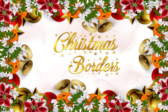 Print on Demand: Christmas Borders Graphic Illustrations By Andreea Eremia Design