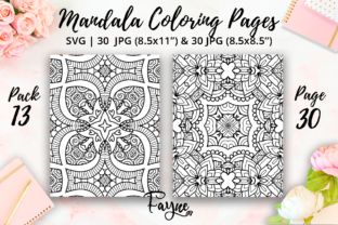 Print on Demand: Mandala Adult Coloring Pages Pack 13 Graphic Coloring Pages & Books Adults By Fayne