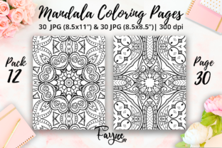 Print on Demand: Mandala Adult Coloring Pages Pack 12 Graphic Coloring Pages & Books Adults By Fayne