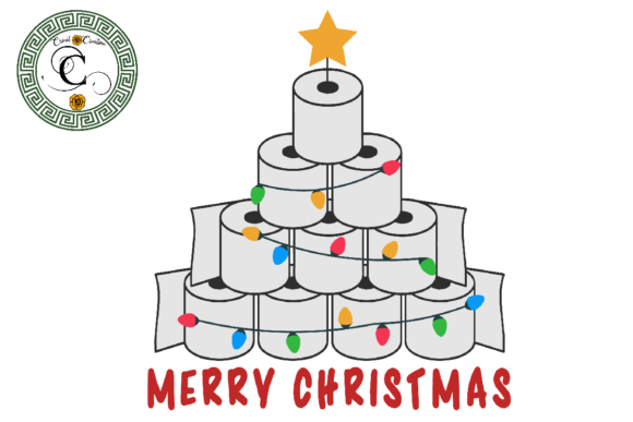 Print on Demand: Merry Christmas Tree Toilet Paper Vector Graphic Print Templates By Cricut Creation