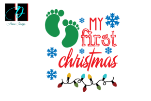 Print on Demand: My First Christmas, Kids Baby Gifts Svg Graphic Print Templates By Hana Design