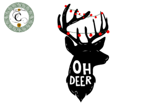 Print on Demand: Oh Deer Christmas Reindeer Vector Svg Graphic Print Templates By Cricut Creation