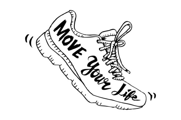 Running Shoe Symbol - Move Your Life. Graphic Crafts By han.dhini