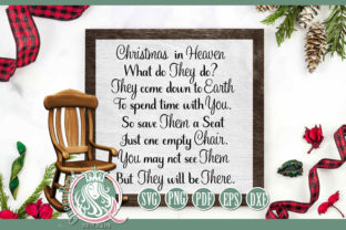 Print on Demand: Christmas in Heaven Graphic Crafts By QueenBrat Digital Designs