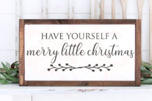 Merry Christmas Quote  Graphic Crafts By Farmstone Studio Designs