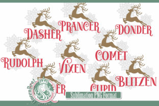 Sublimation | Reindeer-Bundle Graphic Illustrations By QueenBrat Digital Designs