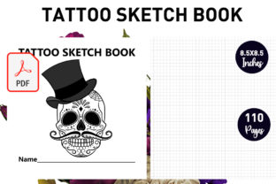Print on Demand: Tattoo Sketchbook for the Tattooists Graphic KDP Interiors By Gurus Kdp Templates