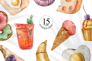 Print on Demand: Watercolor Dessert Clipart. Food Set Graphic Illustrations By Tiana Geo