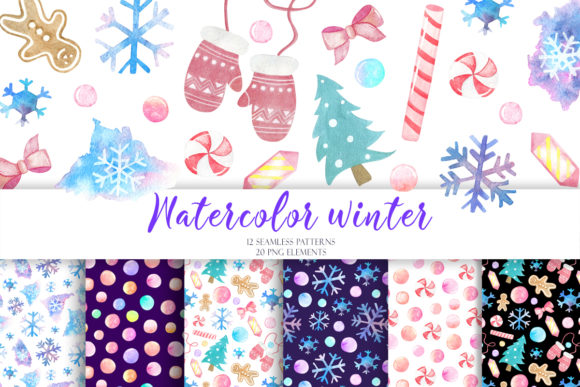 Print on Demand: Watercolor Winter Christmas New Year Graphic Illustrations By TanyaPrintDesign