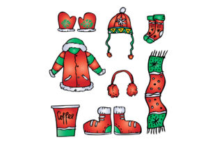 Winter Clothing Set Graphic Illustrations By han.dhini