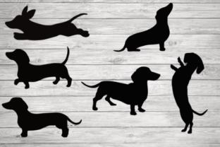 Print on Demand: Dachshund Silhouette, Dachshund Clipart Graphic Illustrations By rayan