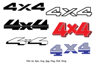 Print on Demand: 4x4 Logo for 4 Wheel Drive Truck and Car Graphic Logos By nisakaart
