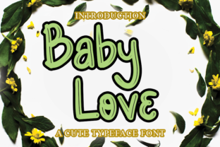 Print on Demand: Baby Love Display Font By merge354