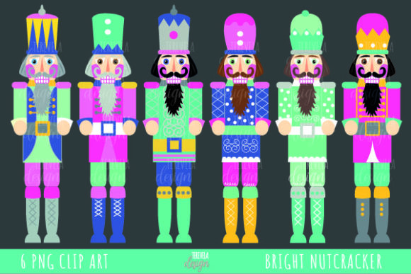 Bright Nutcracker, Christmas Clipart Graphic Objects By tere_velasco