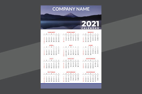 Calender 2021 Design Template Editable Graphic Print Templates By Storm Brain