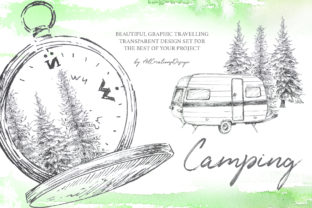 Camping Graphic Design Set Graphic Illustrations By artcreationsdesign