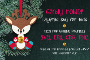 Print on Demand: Candy Holder Christmas Ornament Deer SVG Graphic 3D Christmas By Olga Belova