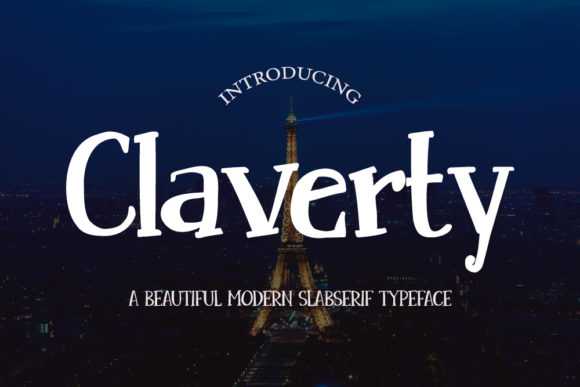 Print on Demand: Claverty Slab Serif Font By Crafty Files
