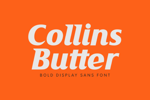 Print on Demand: Collins Butter Display Font By Omotu