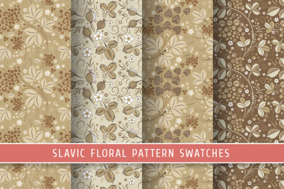Print on Demand: Floral Slavic Seamless Patterns #5 Graphic Patterns By Snowstorm's Box
