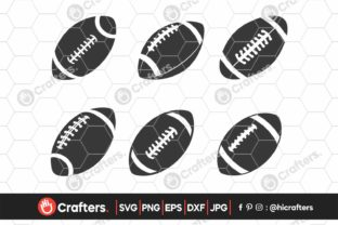 Football Ball Bundle, Football Cliparts Graphic Crafts By HiCrafters