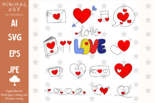 Print on Demand: Hearts Doodle Valentine Svg Clip-art Graphic Illustrations By Momixzaa