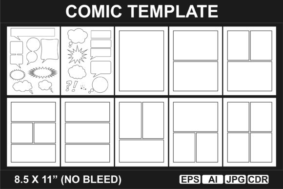 Print on Demand: KDP INTERIOR Comic Template Graphic KDP Interiors By edywiyonopp