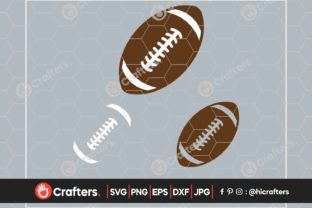 Layered Football, Football Laces Graphic Crafts By HiCrafters