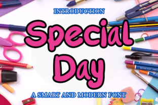 Print on Demand: Special Day Script & Handwritten Font By merge354