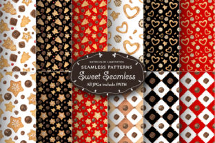 Print on Demand: Sweet Seamless Patterns Graphic Patterns By Snowstorm's Box