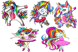 Unicorn Dancers Bundle Graphic Crafts By Fundesings