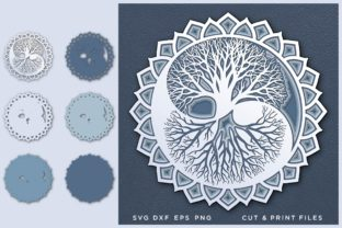 Yin Yang, Tree of Life, Layered SVG Graphic 3D SVG By 2dooart