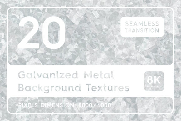 20 Galvanized Metal Background Textures Graphic