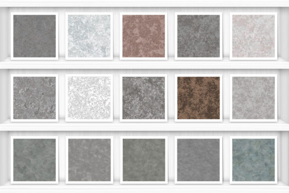 20 Galvanized Metal Background Textures Graphic Item