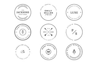 9 Stamp Logo Collection Graphic Logos By chicgraphix