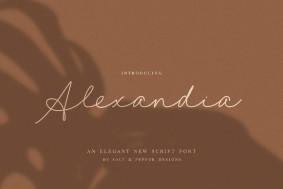 Print on Demand: Alexandia Script & Handwritten Font By Salt & Pepper Designs