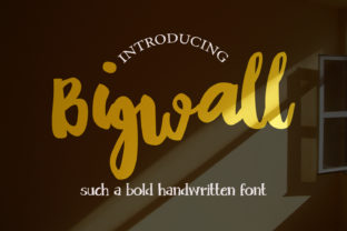 Print on Demand: Bigwall Manuscrita Fuente Por Crafty Files