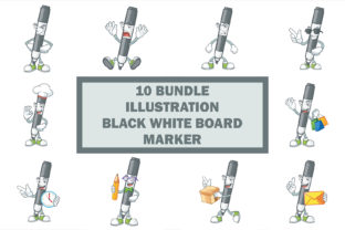 Black White Board Marker Bundle Graphic Illustrations By KongVector2020