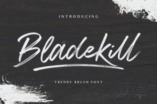Print on Demand: Bladekill Script & Handwritten Font By fontherapy