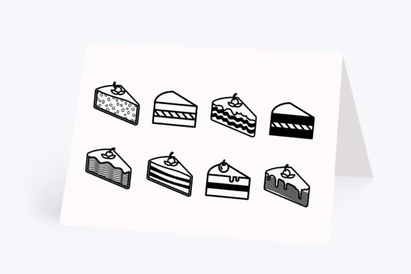 Print on Demand: Cake Pieces, 8 Designs Graphic Crafts By CarryBeautySVG