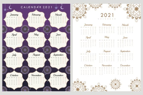 Print on Demand: Calendar 2021 Moslem Concept Graphic Illustrations By edywiyonopp