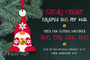 Print on Demand: Candy Holder Christmas Ornament Nordic G Graphic 3D Christmas By Olga Belova