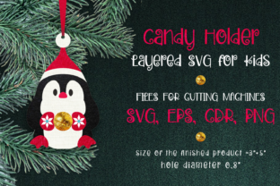 Print on Demand: Candy Holder Christmas Ornament Penguin Graphic 3D Christmas By Olga Belova