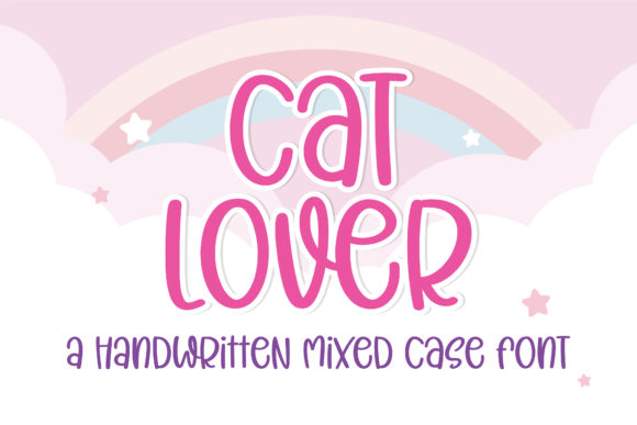 Print on Demand: Cat Lover Script & Handwritten Font By BitongType