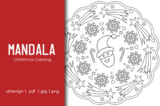 Print on Demand: Christmas Mandala Coloring Page Design Graphic Coloring Pages & Books Kids By doridodesign