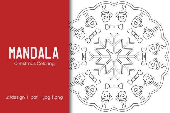 Christmas Mandala Coloring Page Graphic Graphic By Doridodesign Creative Fabrica